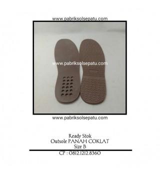 Outsole karet Panah Coklat (Sol Potong)