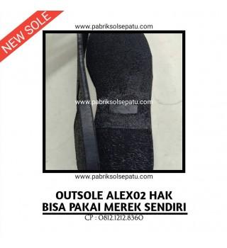 Outsole Karet Sandal Hak Wanita (Sol Potong)