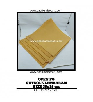 Outsole karet lembaran 35 x 35 cm