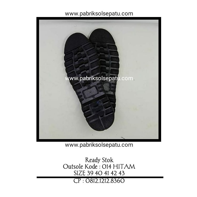 Outsole karet sepatu boots 014 hitam 39 - 43