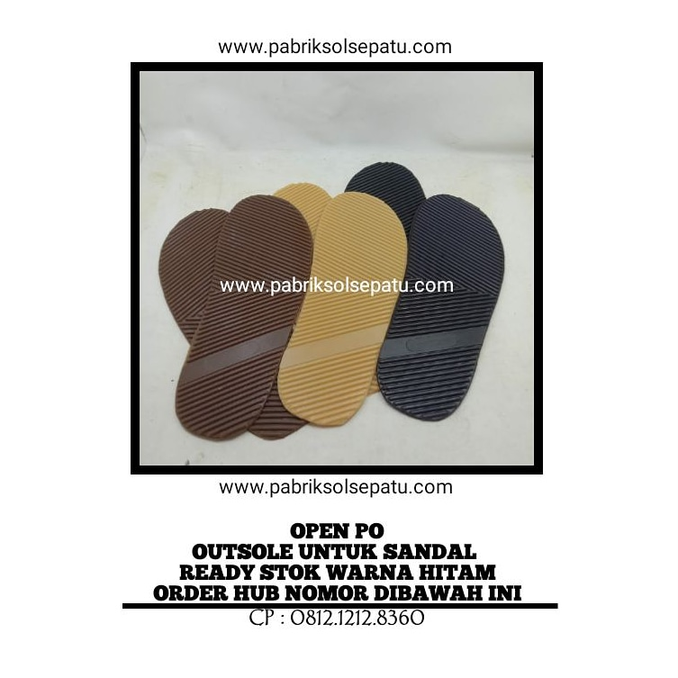 Outsole karet sandal puyuh (sol potong)